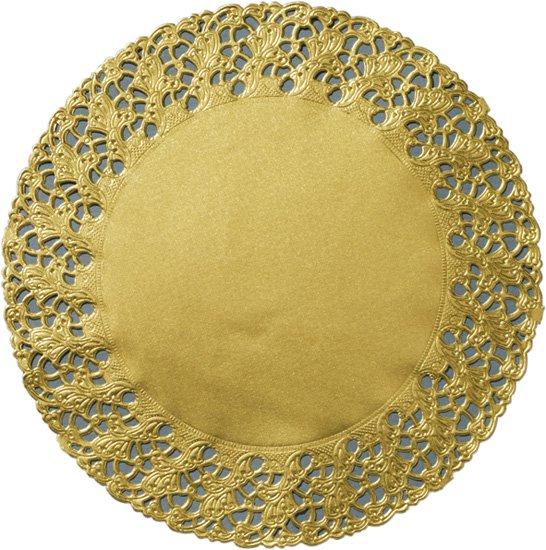 Dortová podložka prům.36cm Zlatá 100ks | Duni - Ubrusy, šerpy, prostírky - Prostírky & podložky dortové