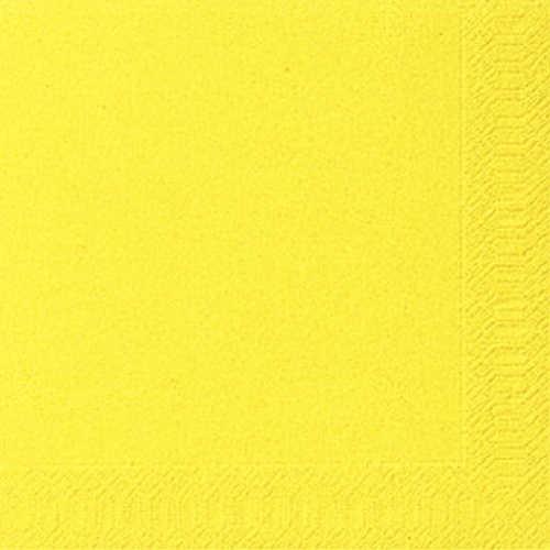 Ubrousek 33x33 3V Žlutý 20ks | Duni - Ubrousky, kapsy na příbory - 3 vrstvé ubrousky