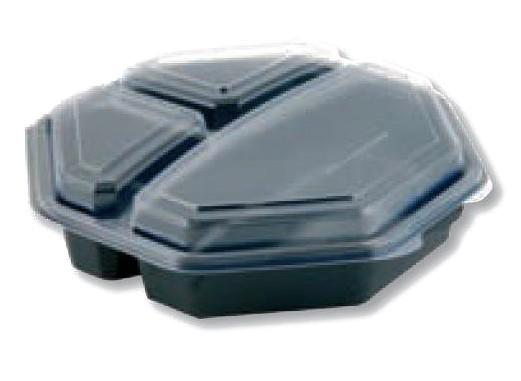 Miska Octaview 3dílná 23x23x6cm | Duni - Rautové nádobí