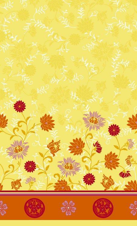 Ubrus 138x220cm Capri yellow omyvatelný | Duni - Ubrusy, šerpy, prostírky - Omyvatelný ubrus
