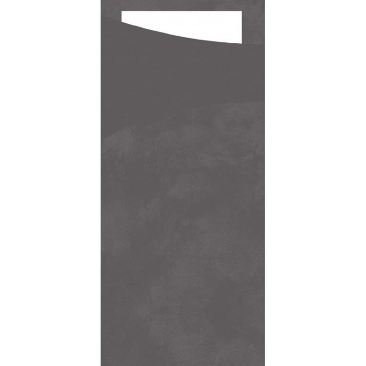 Tissue Sacchetto 8,5x19cm TM šedá 100ks | Duni - Ubrousky, kapsy na příbory - Kapsy na příbory