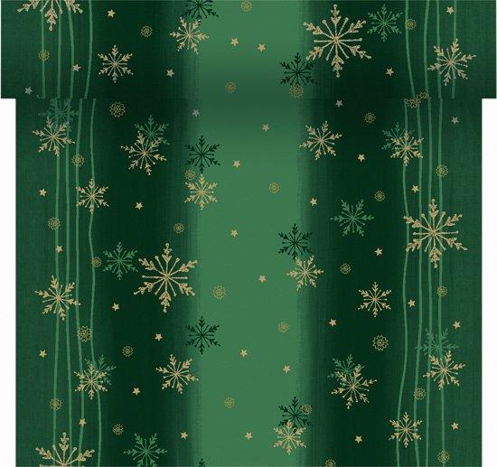 Téte-a-Téte 0,4x24m Snow Zelená | Duni - Ubrusy, šerpy, prostírky - Šerpy
