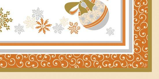 Ubrus 84x84 DCel Christm.Charm neomyvat. | Duni - Ubrusy, šerpy, prostírky - Neomyvatelný ubrus