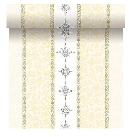 Téte-a-Téte 0,4x4,8m Jewels White | Duni - Ubrusy, šerpy, prostírky - Šerpy