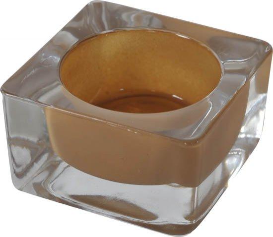 Svícen coloria cafe 6x6x3,5cm | Duni - Svíčky, svícny, kroužky - Svíčky