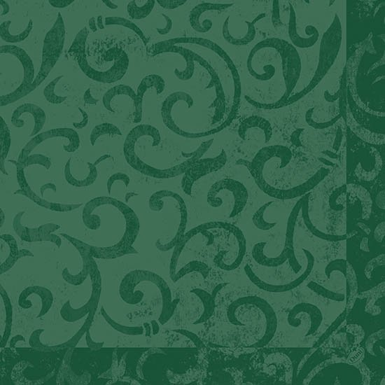 Ubrousek 40x40 DNL Sarala Tm.zelená 50ks | Duni - Ubrousky, kapsy na příbory - Dunilin 40x40