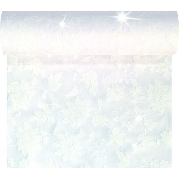 Téte-a-Téte 0,45x24m Sensia White Brila | Duni - Ubrusy, šerpy, prostírky - Šerpy
