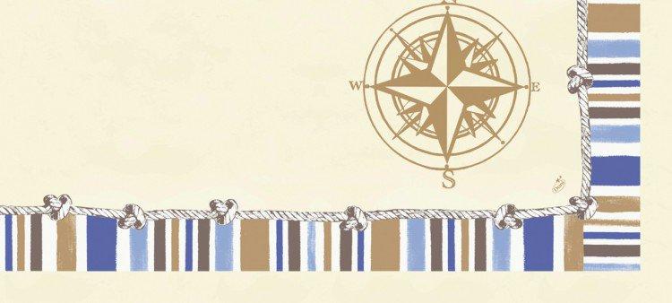 Ubrus 84x84 DCel Marine neomyvatelný | Duni - Ubrusy, šerpy, prostírky - Neomyvatelný ubrus