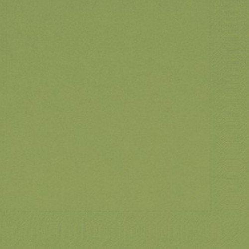 Ubrousek 33x33 2V Listově zelená 125ks | Duni - Ubrousky, kapsy na příbory - 2 vrstvé ubrousky