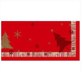 Ubrus 84x84 DCel Winterly Red neomyvat | Duni - Ubrusy, šerpy, prostírky - Neomyvatelný ubrus