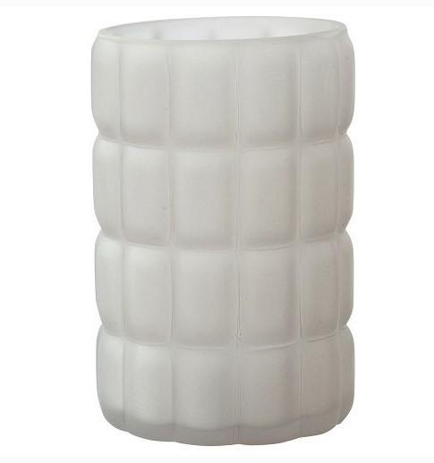 Svícen Scacchi,75x120mm bílý   Duni - Svíčky, svícny, kroužky - svícny & kroužky