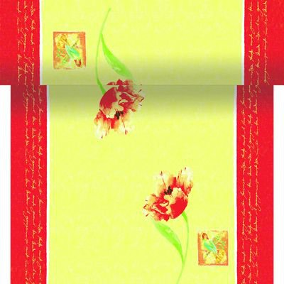 Téte-a-Téte 0,4x24m Spring Tulip | Duni - Ubrusy, šerpy, prostírky - Šerpy