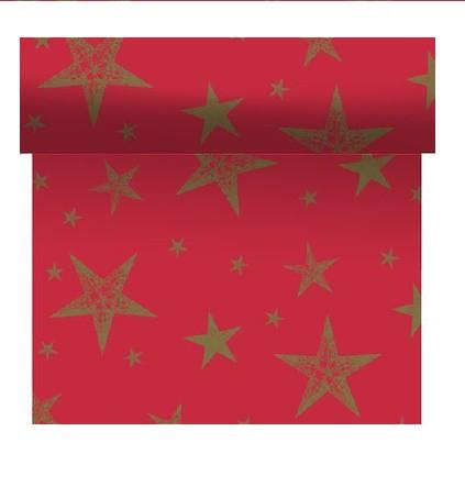 Téte-a-Téte 0,4x4,8m My Star Red   Duni - Ubrusy, šerpy, prostírky - Šerpy