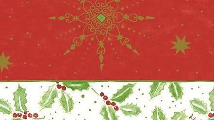 Ubrus 84x84 Classic Christmas neomyvate. | Duni - Ubrusy, šerpy, prostírky - Neomyvatelný ubrus