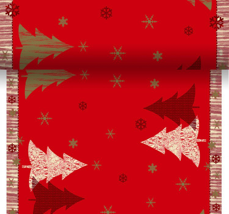 Téte-a-Téte 0,4x24m Winterly Red | Duni - Ubrusy, šerpy, prostírky - Šerpy
