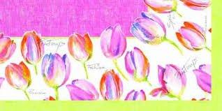 Ubrus 84x84 DCel Pink Tulip neomyvatelný | Duni - Ubrusy, šerpy, prostírky - Neomyvatelný ubrus