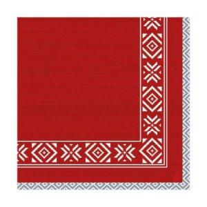 Ubrousek 40x40 DNL Winter Feel Red 50ks | Duni - Ubrousky, kapsy na příbory - Dunilin 40x40