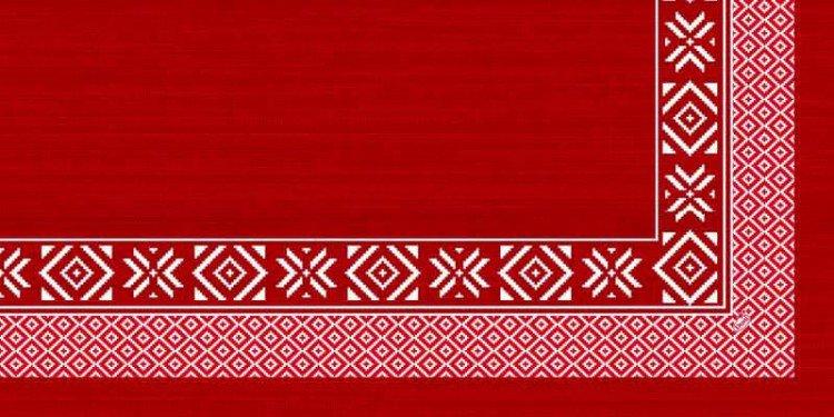 Ubrus 84x84 DCel Winter Feeling red neom | Duni - Ubrusy, šerpy, prostírky - Neomyvatelný ubrus