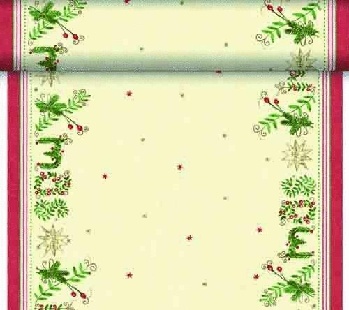 Téte-a-Téte 0,4x24m Christmas Gift Cream | Duni - Ubrusy, šerpy, prostírky - Šerpy