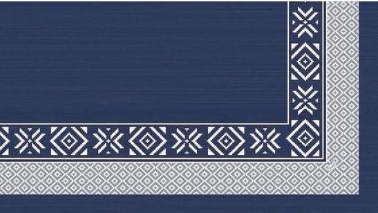 Ubrus 84x84 DSilk Winter Feeling Blue o. | Duni - Ubrusy, šerpy, prostírky - Omyvatelný ubrus