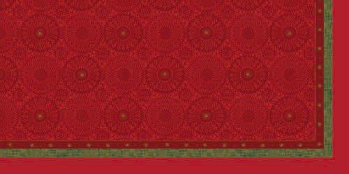 Ubrus 84x84 DSilk Festive Charm Red/om | Duni - Ubrusy, šerpy, prostírky - Omyvatelný ubrus