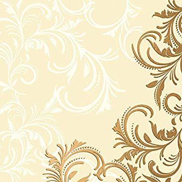 Ubrousek 40x40 Dsoft Grace Cream 12ks | Duni - Ubrousky, kapsy na příbory - Dunilin 40x40