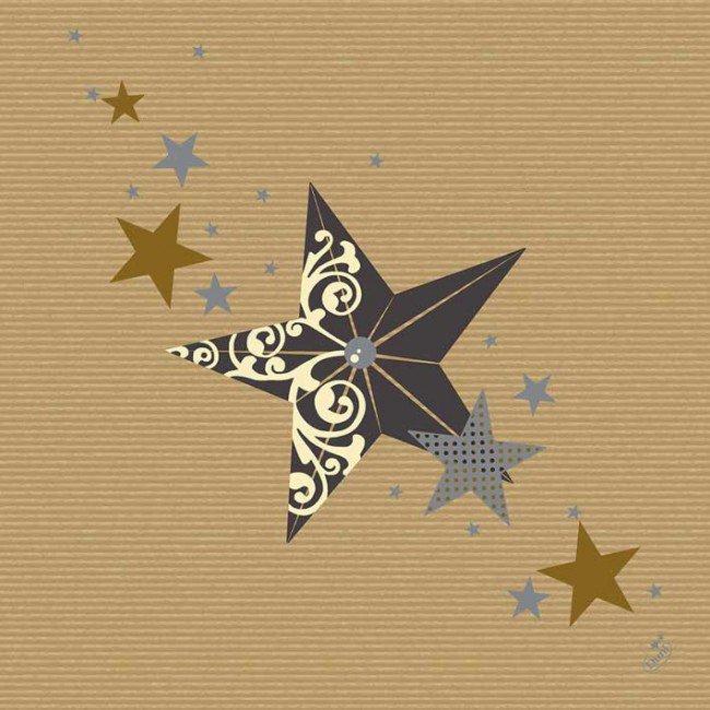 Ubrousek 40x40 DNL Walk of Fame Cream TM | Duni - Ubrousky, kapsy na příbory - Dunilin 40x40