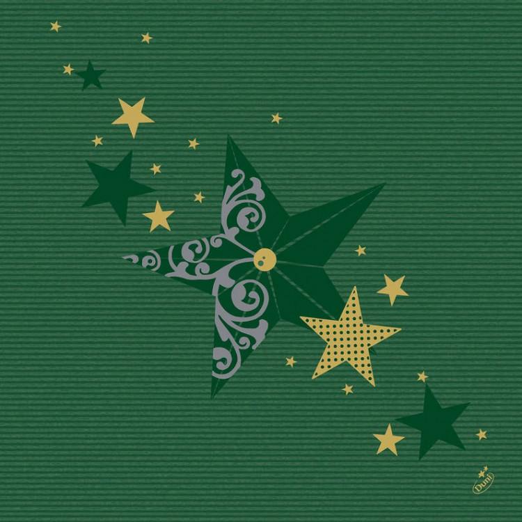 Ubrousek 40x40 DNL Walk of Fame Green 50 | Duni - Ubrousky, kapsy na příbory - Dunilin 40x40