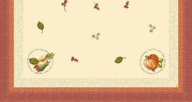 Ubrus 84x84 DSilk Fruits of Autumn | Duni - Ubrusy, šerpy, prostírky - Omyvatelný ubrus