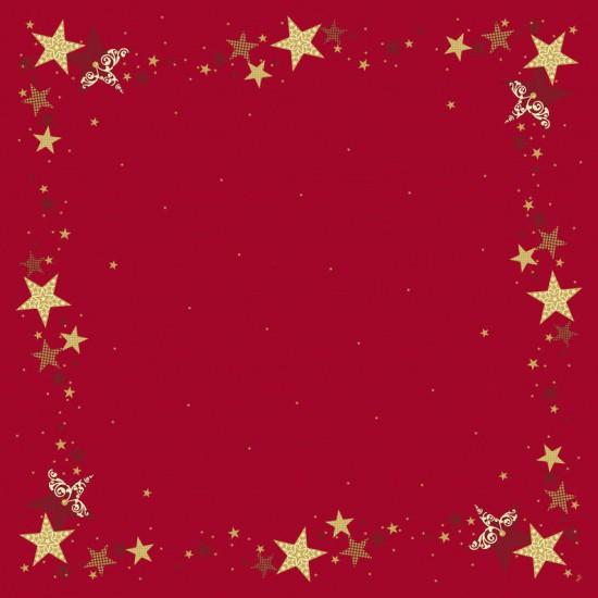 Ubrus 84x84 DSilk Walk of Fame Red omyv | Duni - Ubrusy, šerpy, prostírky - Omyvatelný ubrus
