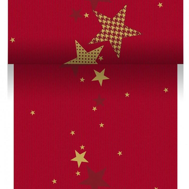 Téte-a-Téte 0,15x20m Walk of Fame Red | Duni - Ubrusy, šerpy, prostírky - Šerpy