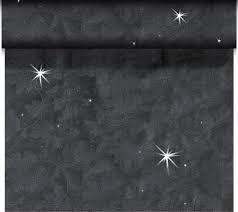 Téte-a-Téte 0,45x24m Brillance Černá třp | Duni - Ubrusy, šerpy, prostírky - Šerpy