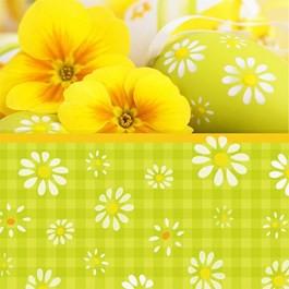 Ubrousek 33x33 3Vr Yellow Daisies 20ks | Duni - Ubrousky, kapsy na příbory - 3 vrstvé ubrousky