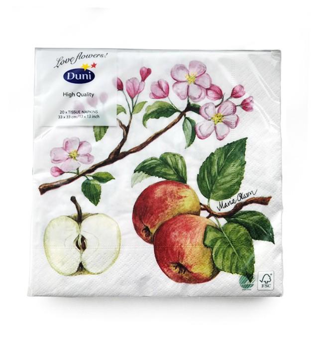 Ubrousek 33x33 3Vr Apple Blossom 20ks   Duni - Ubrousky, kapsy na příbory - 3 vrstvé ubrousky