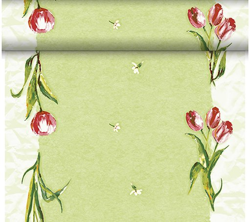 Téte-a-Téte Red Tulip 0,4x24m | Duni - Ubrusy, šerpy, prostírky - Šerpy