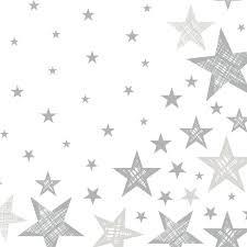 Ubrousek 3V 33x33 Shining Star White 20   Duni - Ubrousky, kapsy na příbory - 3 vrstvé ubrousky