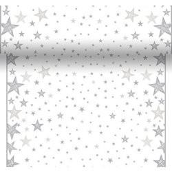 Tete-a Téte 0.4x4.8m Shining Star White | Duni - Ubrusy, šerpy, prostírky - Šerpy