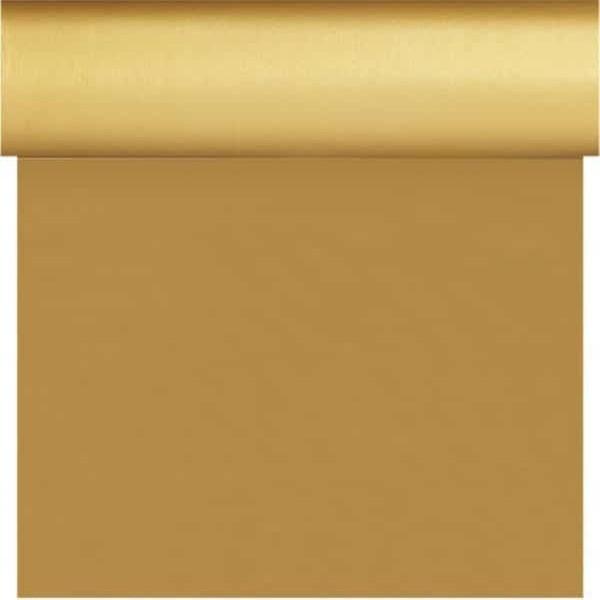Tete-a-Tete Dsilk 0.4x4.8m Gold | Duni - Ubrusy, šerpy, prostírky - Šerpy