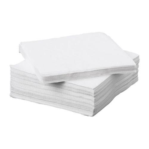 Ubrousek 33x33 2V Bílý 125ks | Duni - Ubrousky, kapsy na příbory - 2 vrstvé ubrousky