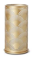 Svícen 140x75mm PEACOCK zlatá kov | Duni - Svíčky, svícny, kroužky - svícny & kroužky