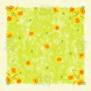 Ubrus 84x84 Spring Flower neomyv | Duni - Ubrusy, šerpy, prostírky - Neomyvatelný ubrus