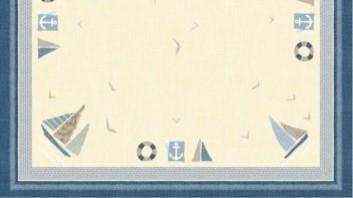 Ubrus 84x84 DSilk Seaway omyvatelný | Duni - Ubrusy, šerpy, prostírky - Omyvatelný ubrus