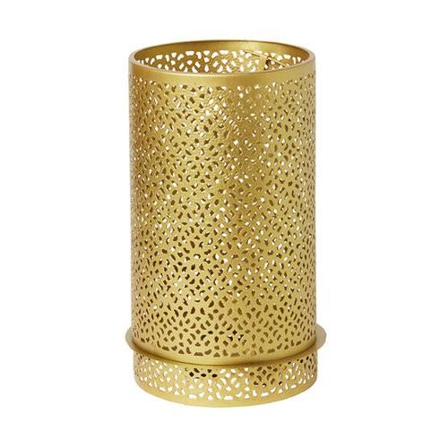 Svícen Bliss zlatá kov 200x120mm LED   Duni - Svíčky, svícny, kroužky - svícny & kroužky
