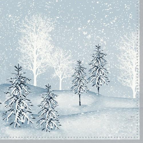 Ubrousek 33x33 3V Winter Mornings 50ks | Duni - Ubrousky, kapsy na příbory - 3 vrstvé ubrousky
