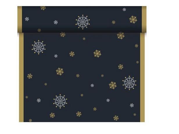Téte-a-Téte 0.4x24m Snowflake neck Black | Duni - Ubrusy, šerpy, prostírky - Šerpy
