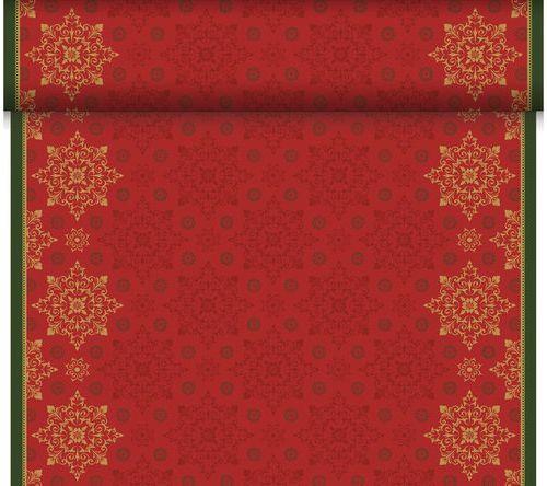 Téte-a-Téte 0.4x24m Xmas Deco Red | Duni - Ubrusy, šerpy, prostírky - Šerpy