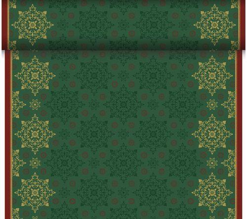 Téte-a-téte 0.4x24m Xmas Deco Green | Duni - Ubrusy, šerpy, prostírky - Šerpy