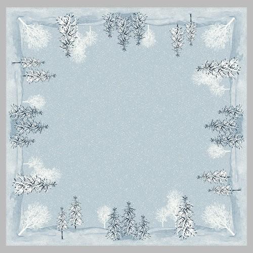 Ubrus 84x84 DSilk Winter Mornings neomyv | Duni - Ubrusy, šerpy, prostírky - Neomyvatelný ubrus