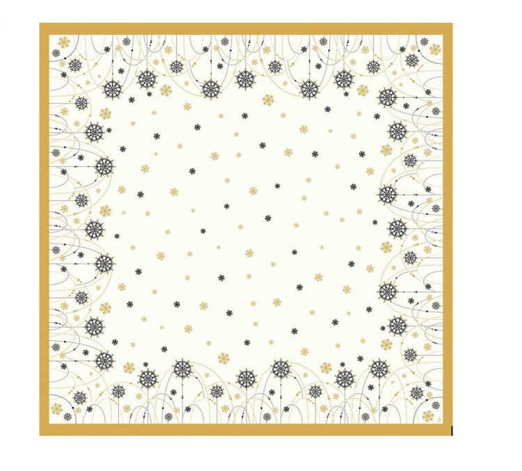 Ubrus 84x84 Snowflake neckl.White neomy | Duni - Ubrusy, šerpy, prostírky - Neomyvatelný ubrus
