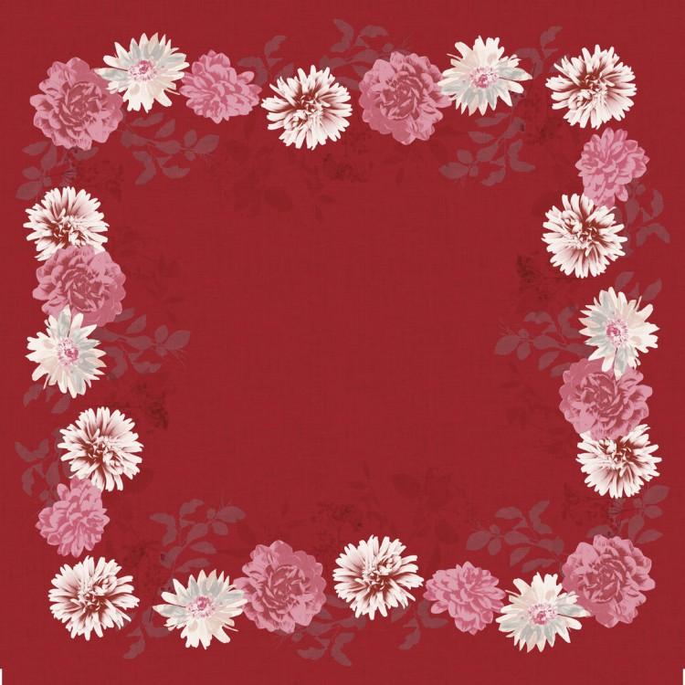 Ubrus 84x84 DSilk Autumn Floral omyvate | Duni - Ubrusy, šerpy, prostírky - Omyvatelný ubrus